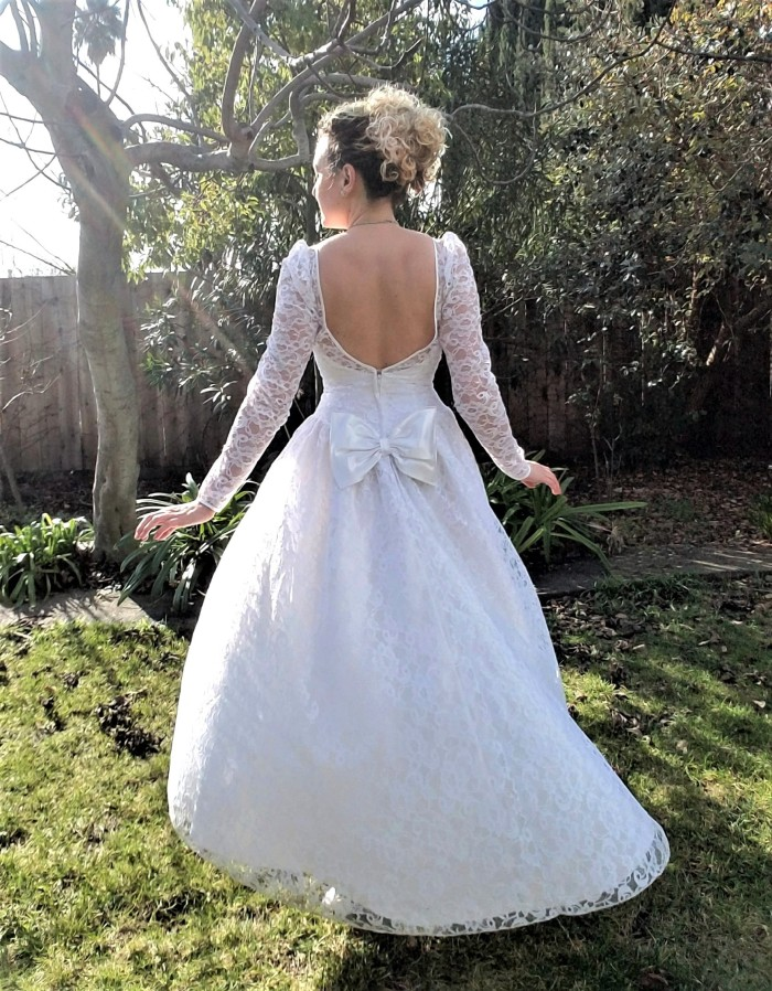 Vintage Lace Wedding Dress - Tea Length