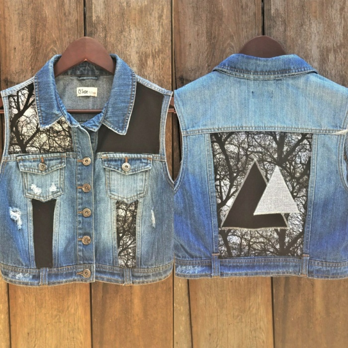 Upcycled Trees and Pyramids Vest