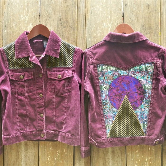 Aubergine Psychedelic Patchwork Upcycled Jacket