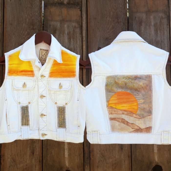 White Hot Desert Denim Vest